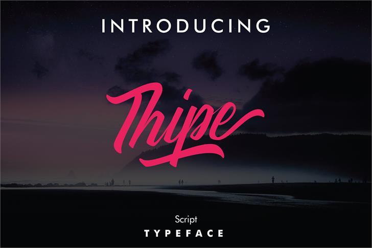 ThipeTypeface大气手写连笔海报英文字体下载