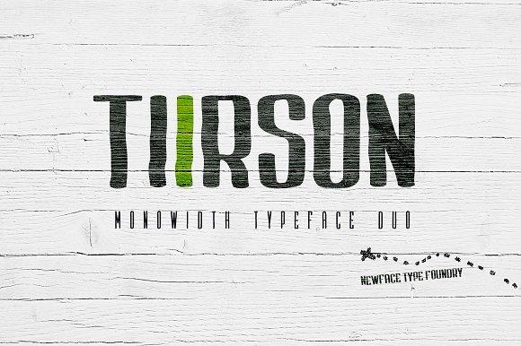 Tiirson复古沉陷油墨英文字体下载