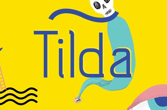 Tilda现代无衬线简洁logo好看的英文字体下载