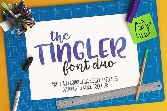 Tingler script手写英文字体下载