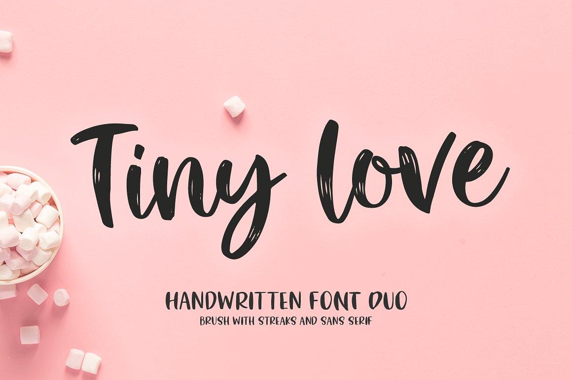 TinyLove手写可爱个性签名艺术英文字体