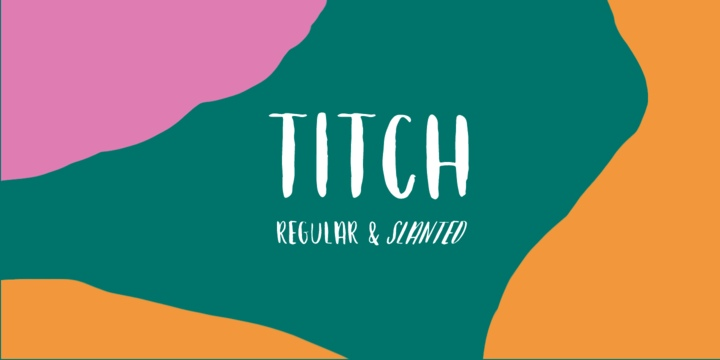 Titch创意个性手写海报英文字体下载