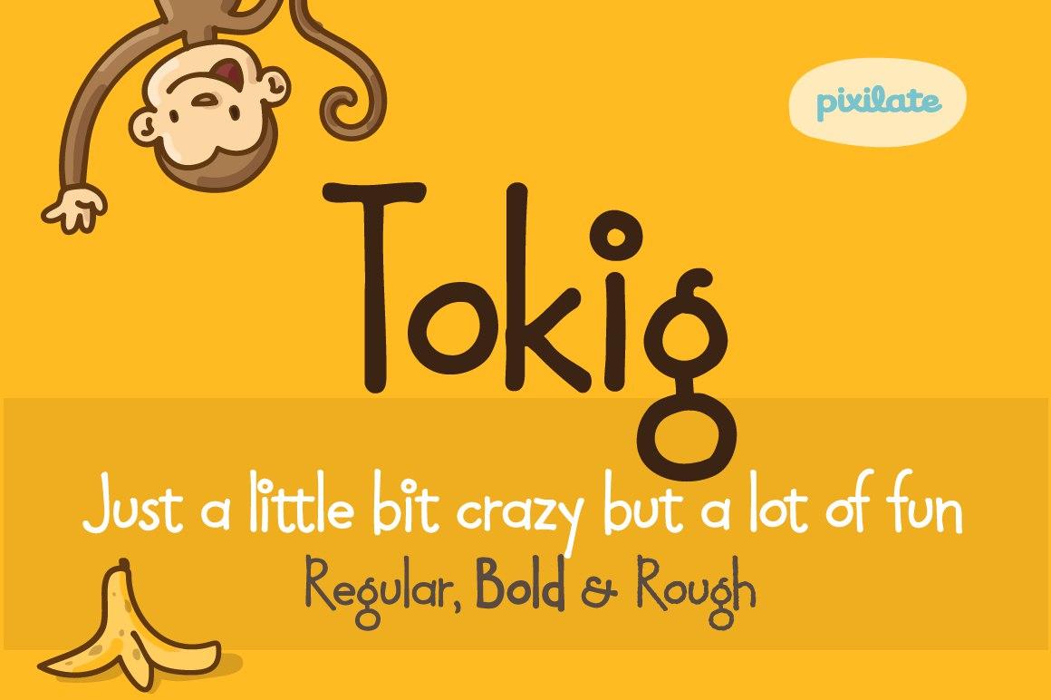 TokigPK可爱卡通儿童英文字体下载