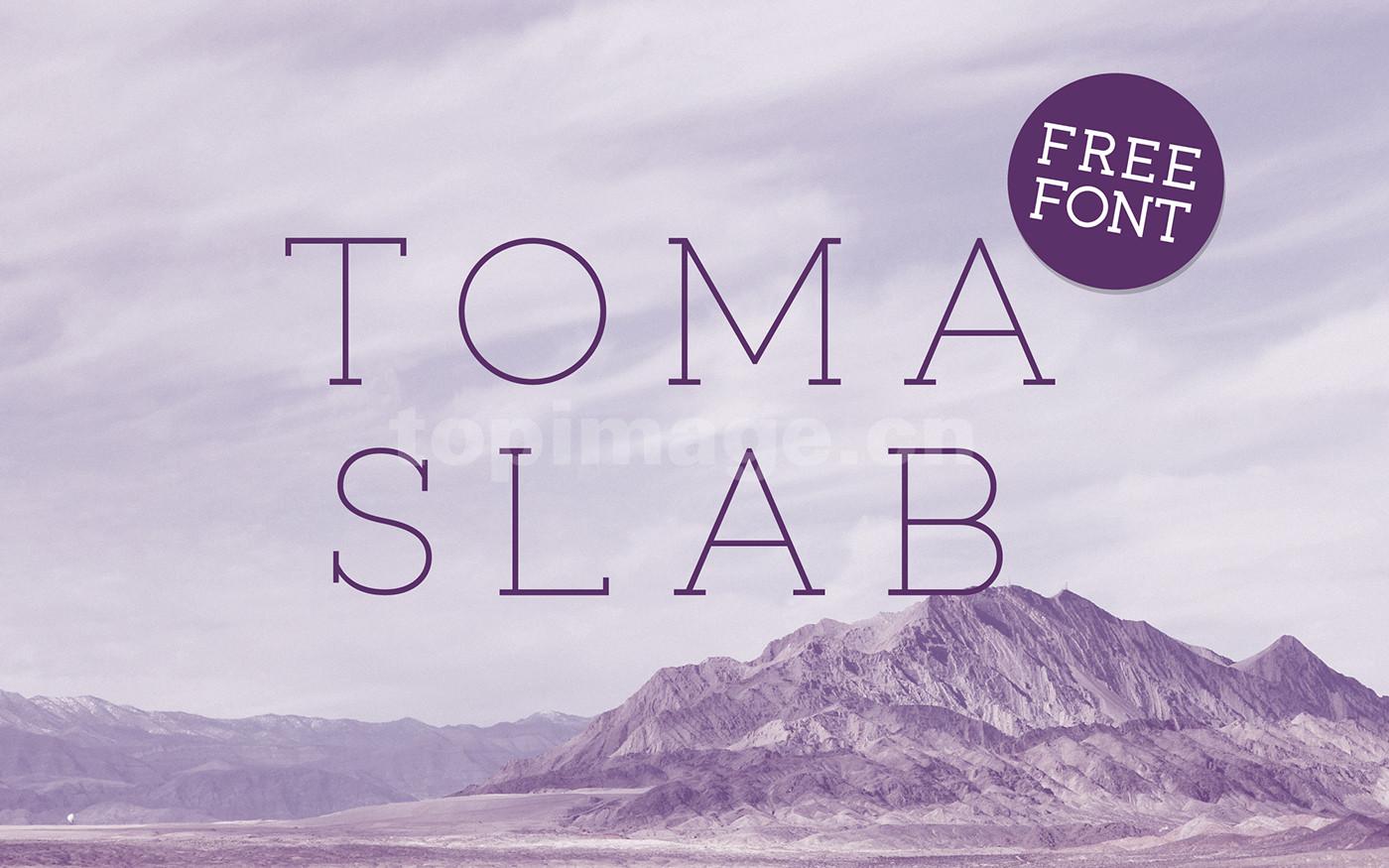 TomaSlab 简约纤细衬线logo海报英文设计字体