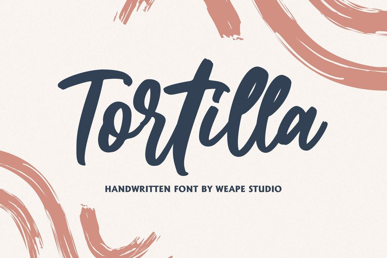 Tortilla手写时尚连笔英文字体下载