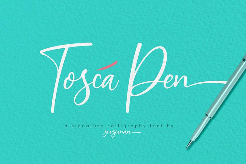 Tosca Pen手写钢笔签名英文字体下载