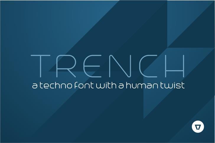 Trench现代纤细极简logo英文字体下载