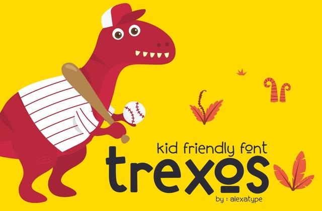 Trexos手写趣味卡通英文字体下载