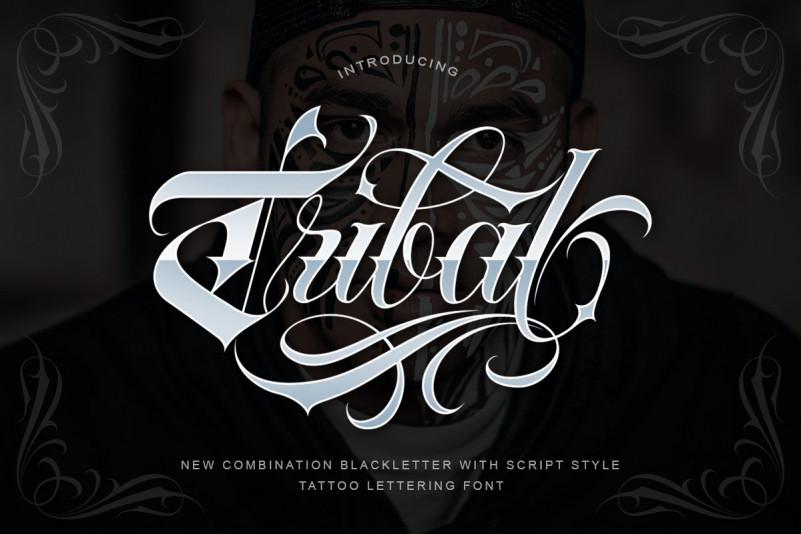 Tribal哥特个性纹身英文字体下载