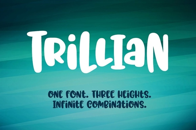 Trillian卡通手绘书法英文字体下载