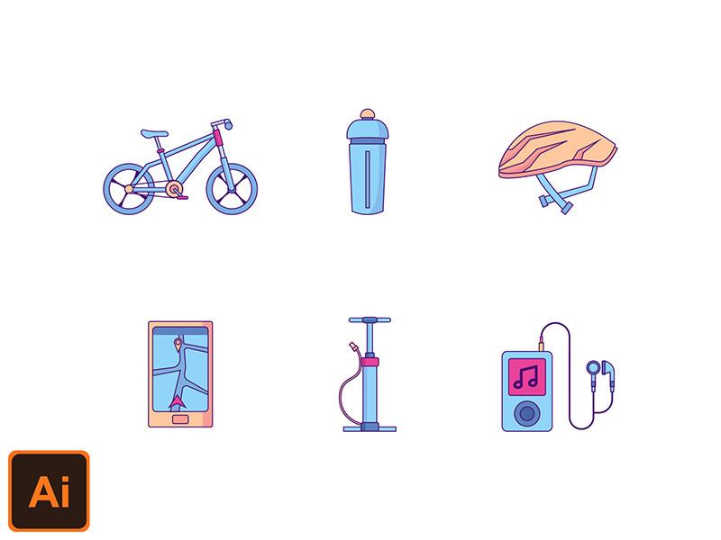 mbe 骑行 旅行 打气筒 音乐icon 图标源文件下载