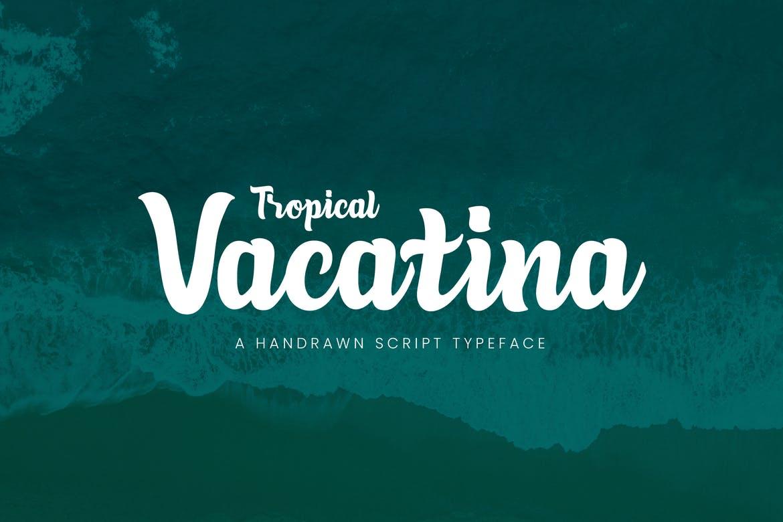TropicalVacatina手写稳重连笔婚礼英文字体下载