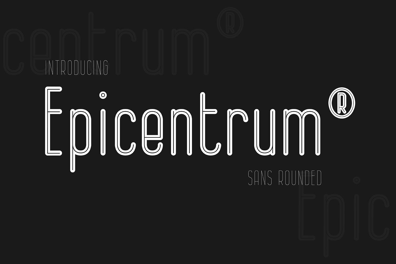 Trumpicen现代无衬线线条简洁英文logo字体下载