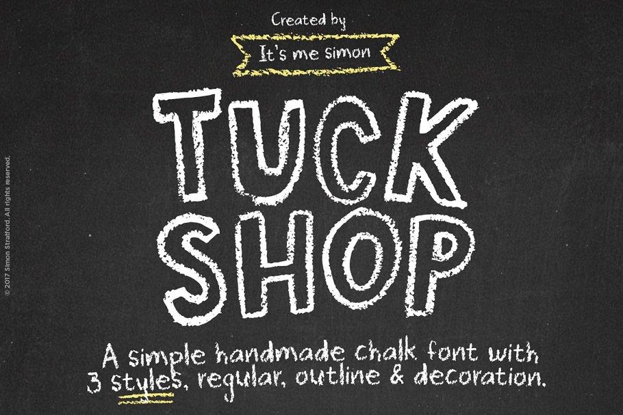 TuckShop蜡笔手写笔触粉笔网红英文字体下载