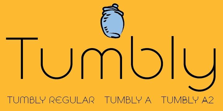 Tumbly简洁logo英文字体下载