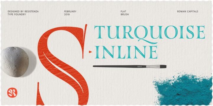 Turquoise_Inline 镂空线条衬线英文字体下载