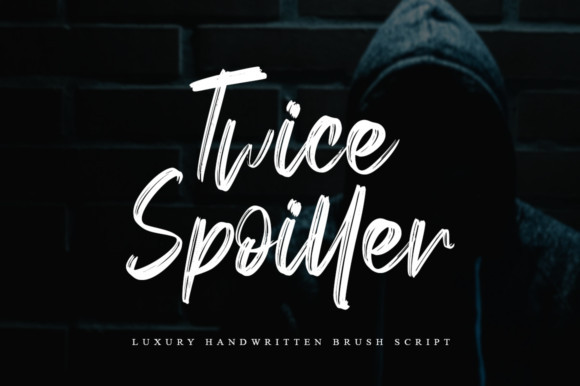 Twice Spoiller手绘书法笔触涂鸦英文字体下载