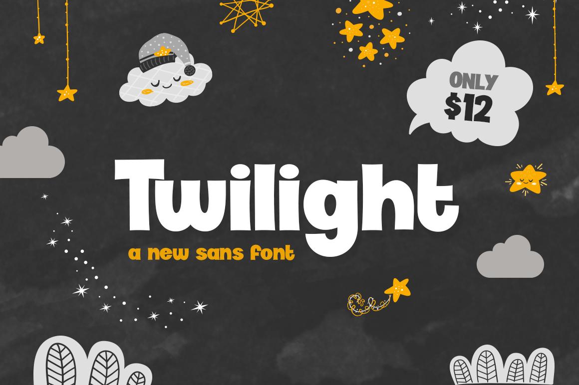 TwilightFont现代无衬线简洁logo排版设计英文字体下载
