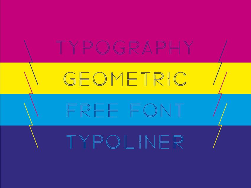 Typoliner创意纤细logo英文字体下载