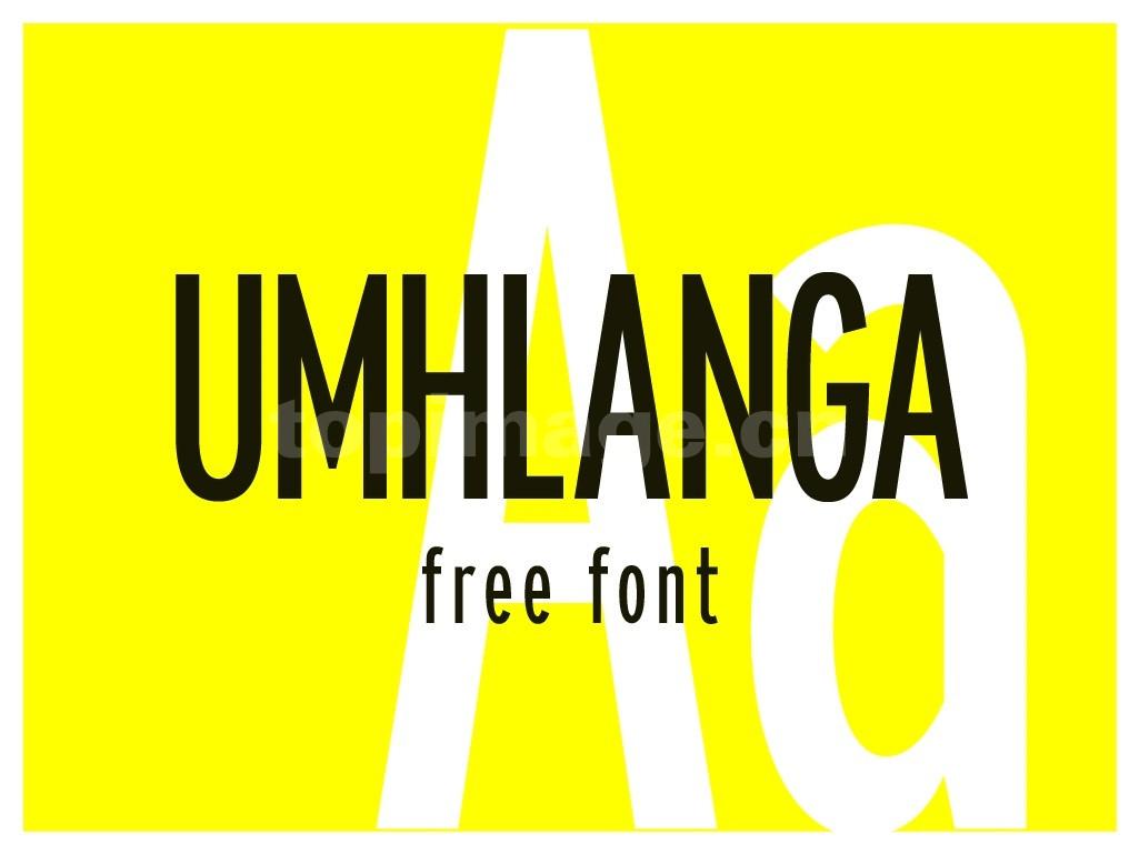 Umhlanga长简约好看的英文字体大气下载
