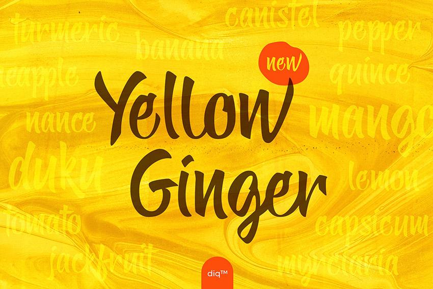 yellow ginger手写英文字体下载