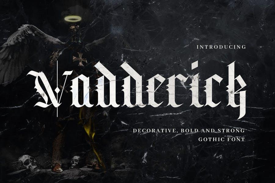 Vadderick哥特老式复古传统英文字体下载