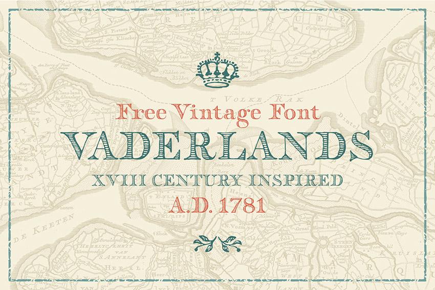 Vaderlands衬线复古经典美式英文字体下载
