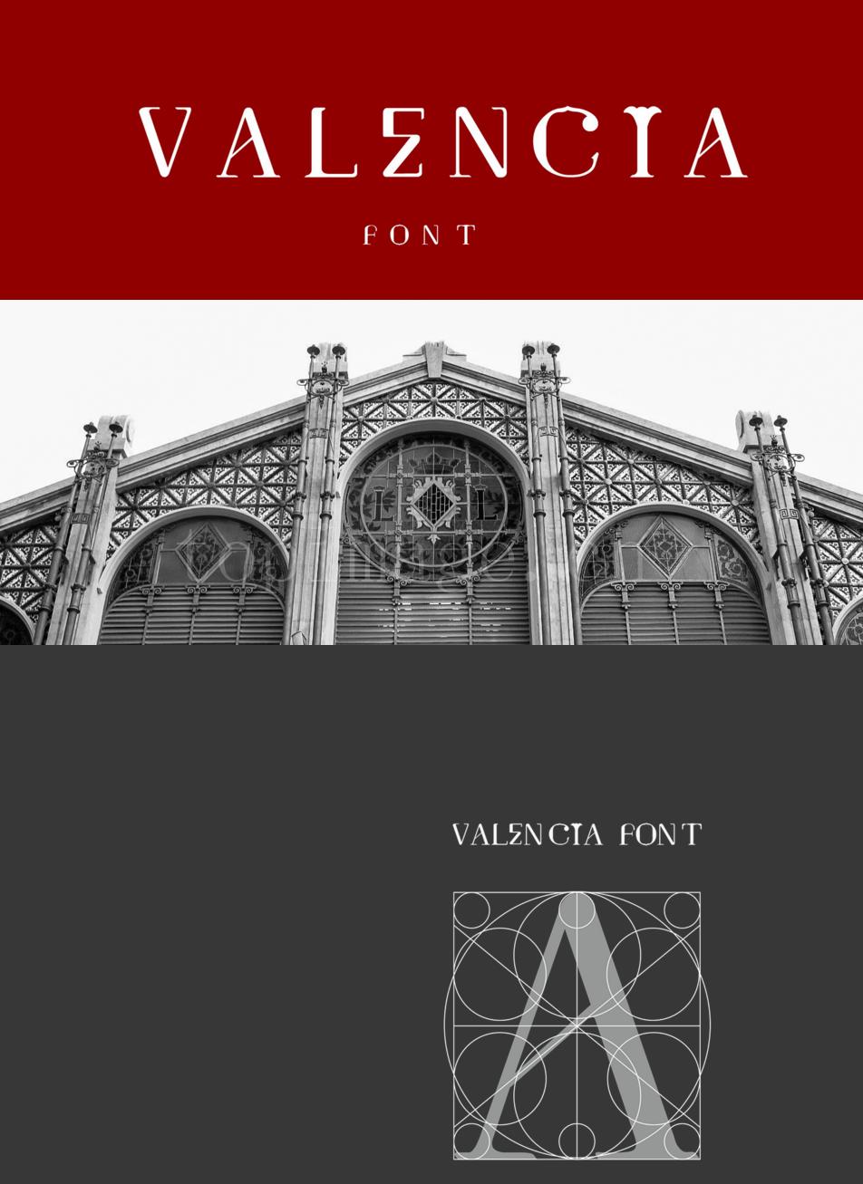 Valencia复古罗马卡通纤细个性化艺术英文字体下载