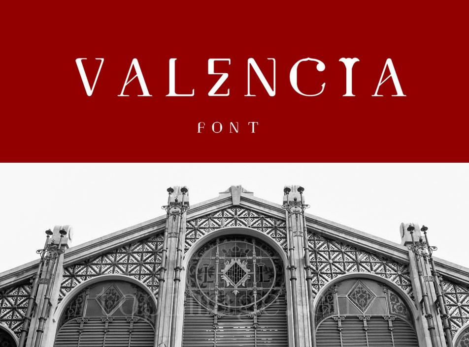 Valencia复古罗马卡通纤细个性化艺术英文字体下载-topimage