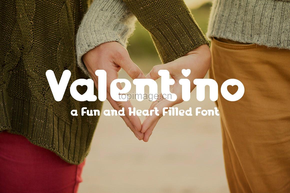 Valentino心形图案爱心英文字体下载