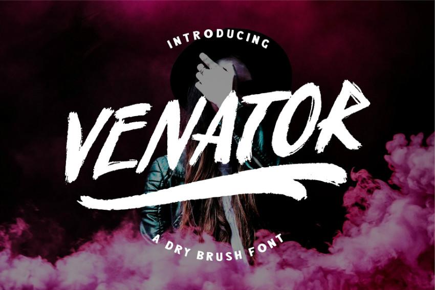 Venator手写纹理英文字体下载