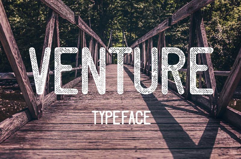 Venture复古英文字体下载