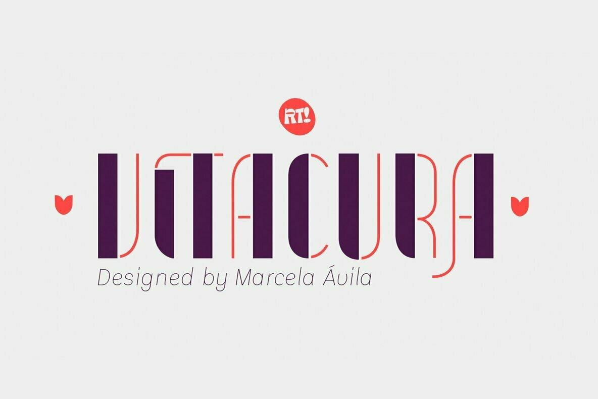 Vitacura现代创意logo英文字体下载