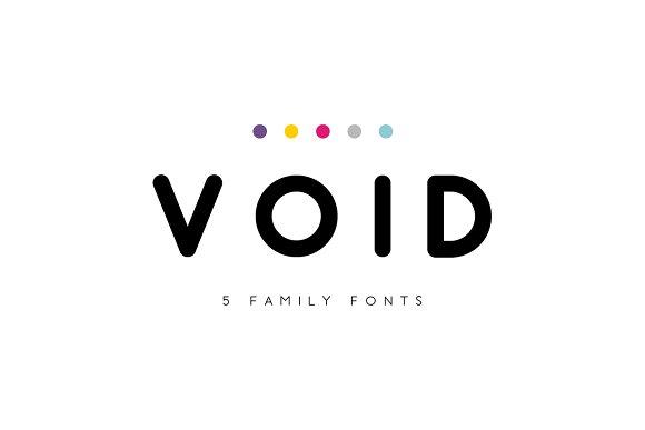Void圆润极简平面logo英文字体下载