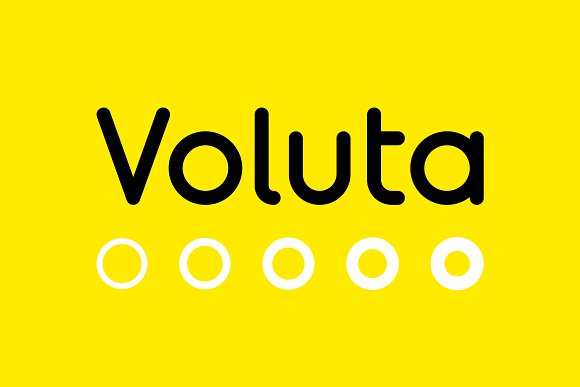 Voluta时尚简约现代logo英文字体下载(系列字体)