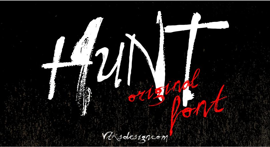 VtksHunt游戏街头涂鸦海报英文字体下载