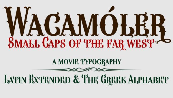 Wacam复古罗马个性卡通好看的艺术英文字体下载