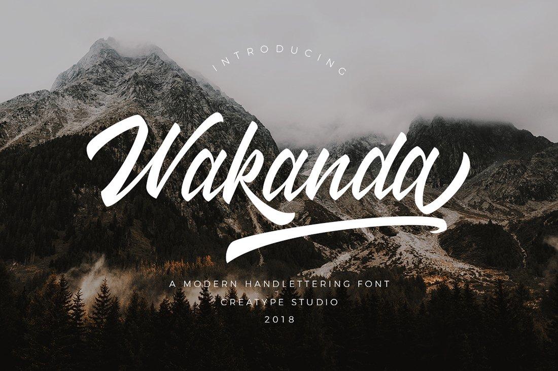 Wakanda手写手绘英文字体下载