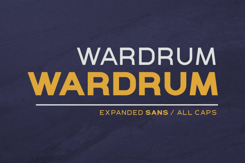 Wardrum现代无衬线英文字体包下载