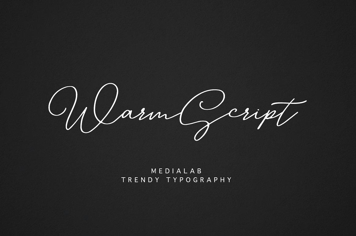 WarmScript手写连体纤细个性签名英文字体下载