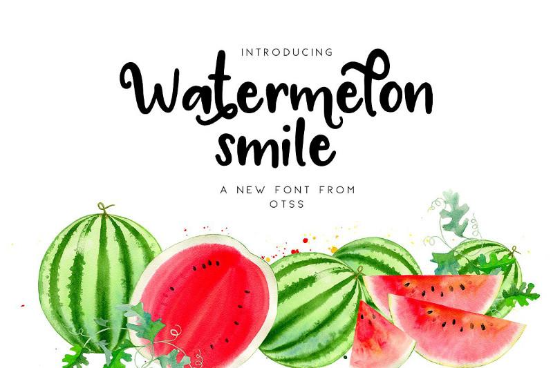 Watermel on Smile手写手绘英文字体下载