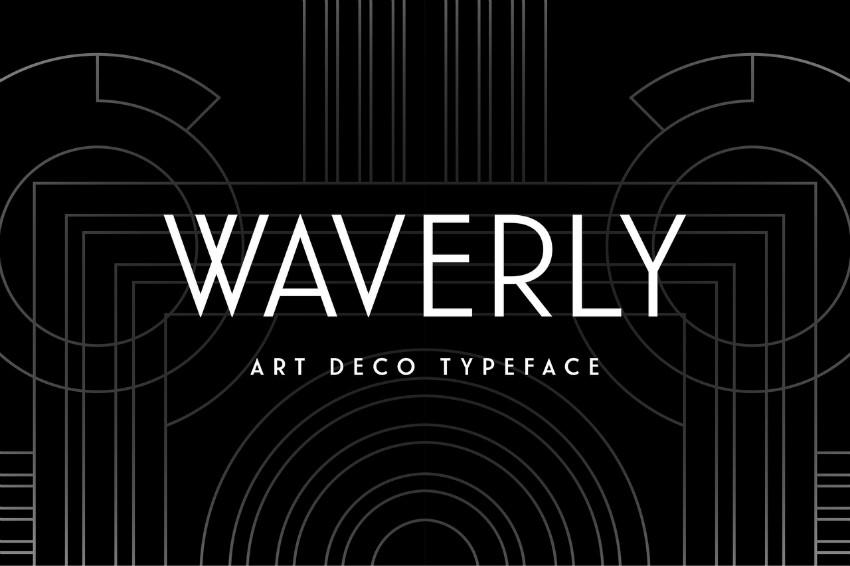 Waverly现代无衬线logo英文字体下载