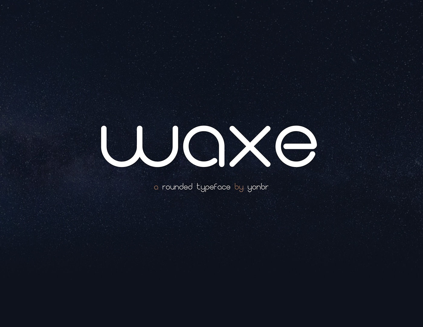 Waxe简约时尚logo设计圆润英文字体下载