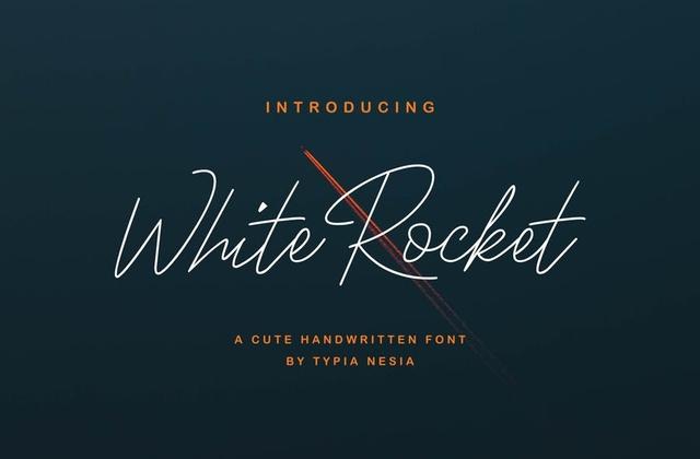 WhiteRocket纤细手写连笔铅笔英文字体下载