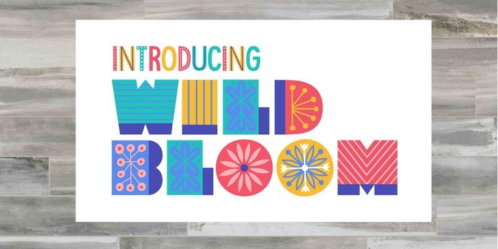WildBloom艺术性创意装饰类个性英文字体下载