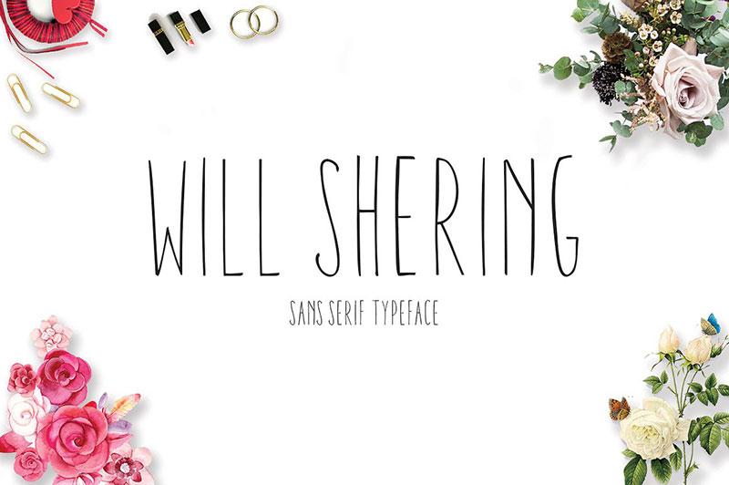 Willshering sans无衬线文艺海报纤细英文字体下载