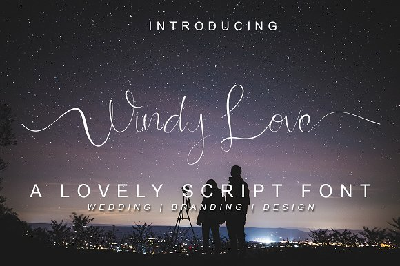 Windy_Love连笔手写签名ins网红水印英文字体下载