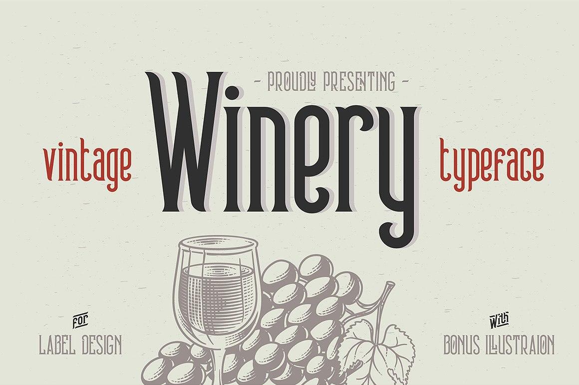 Winery复古衬线英文字体下载