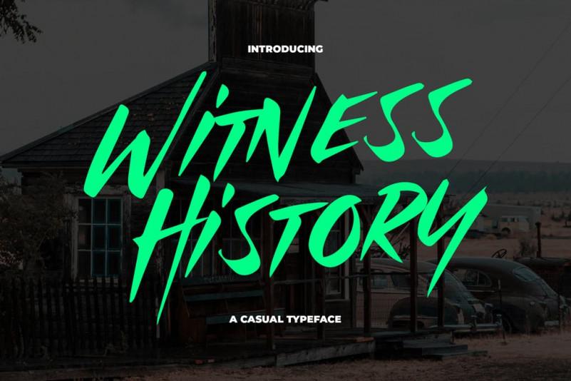 WitnessHistory手写时尚连笔大气英文字体下载