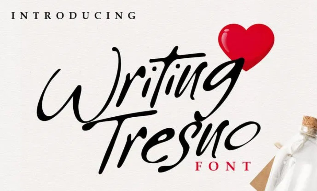 Writing Tresno书法手写好看的英文字体下载